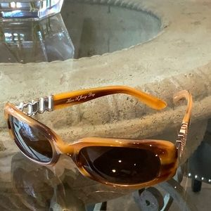 Juicy Couture Accessories - Juicy Couture brown frame rhinestone sunglasses